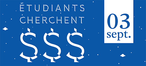�tudiants cherchent argent